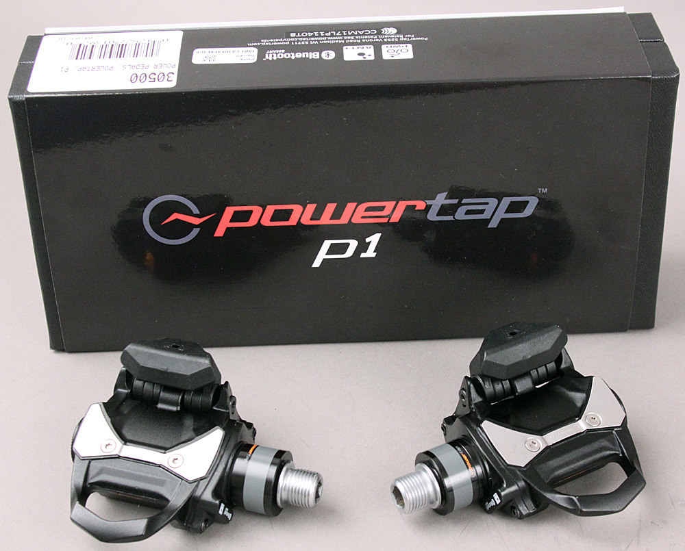 PowerTap P1 Power Meter Pedals Black Dual Sided Power Black