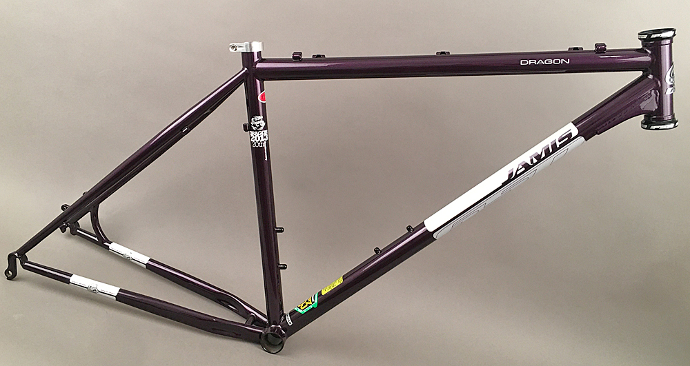 "Jamis Dragon 650b 27.5"" Mountain MTB Bike Steel Frame 17"" Purple"