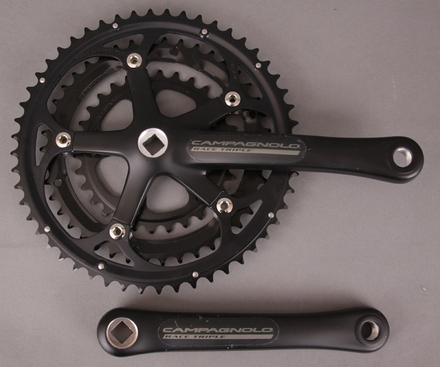 Campagnolo Racing Triple Crankset Black 175 30-42-52 Chainrings