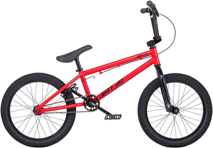 "Radio Revo 18"" Wheels Steel BMX Bike 17.55"" TT Red"