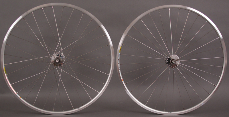 Phil Wood Mavic Open Pro Silver Track Wheelset Radial Laced