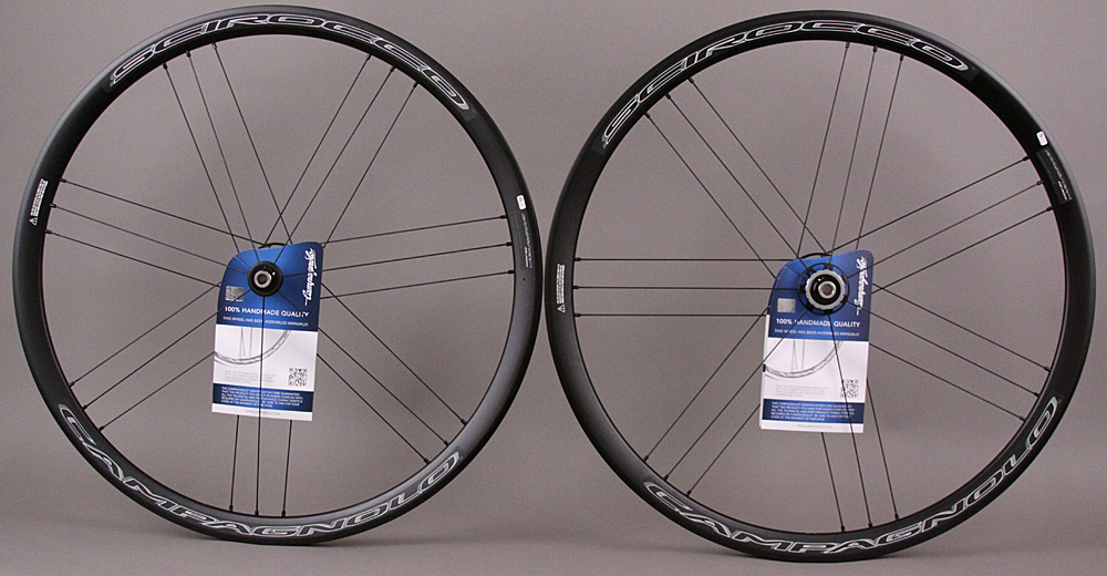 Campagnolo Scirocco Clincher Black Disc Brake Wheels 9-12 speed
