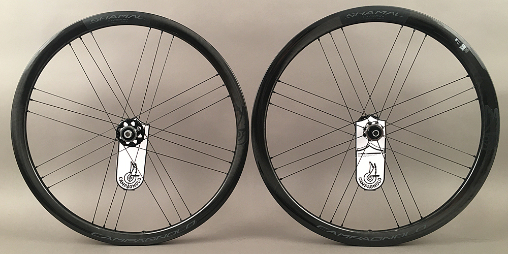 Campagnolo Shamal Carbon Road Bike Disc Brake Wheelset 2 Way Fit