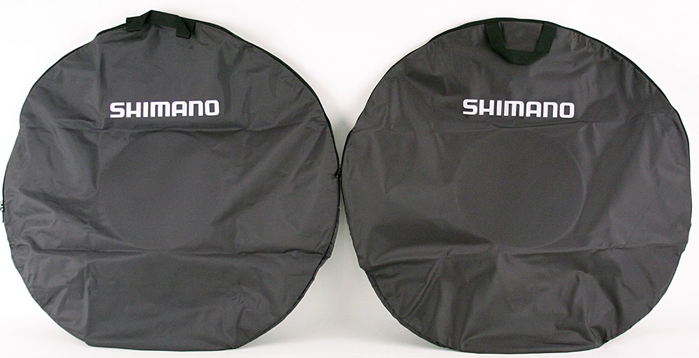 Pair of Shimano Wheel Bags for Road or Mountain Bike Black
