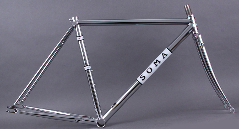 Soma Rush Steel Track Frameset Chrome Plated 61cm