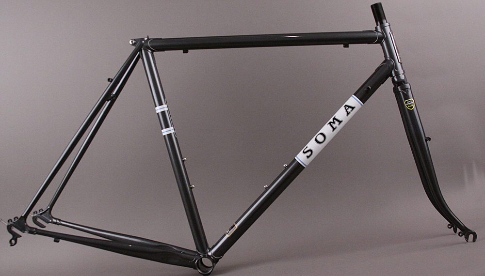 2017 Soma Stanyan Lugged Steel Road Sport Touring Frameset 56