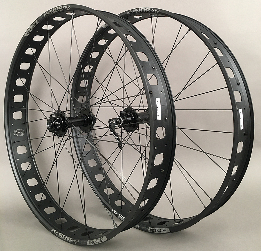 Sun Mulefut 74mm 27.5 650b Fat Bike Wheelset 15x150 12x177mm