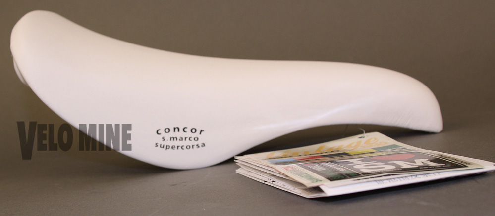 Selle San Marco Supercorsa White Leather saddle Vintage Collecti