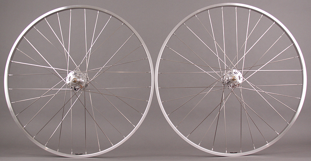 H + Plus Son TB14 Silver White Industries Track Hubs Wheelset
