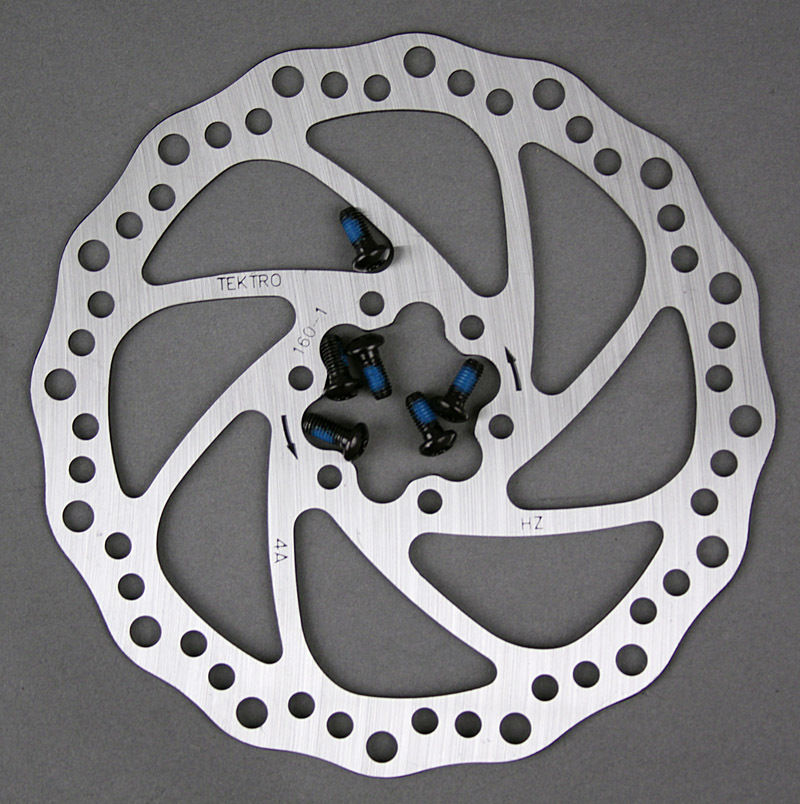 Tektro Wavy 6 Bolt Disc Brake Rotor with bolts 160mm Road CX MTN