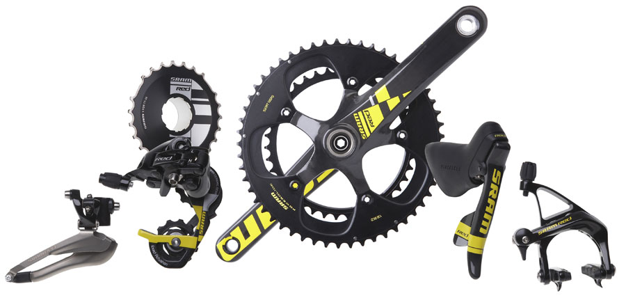 SRAM Red LTE Limited Tour Edition 8 Pc Group 2012 Front Der