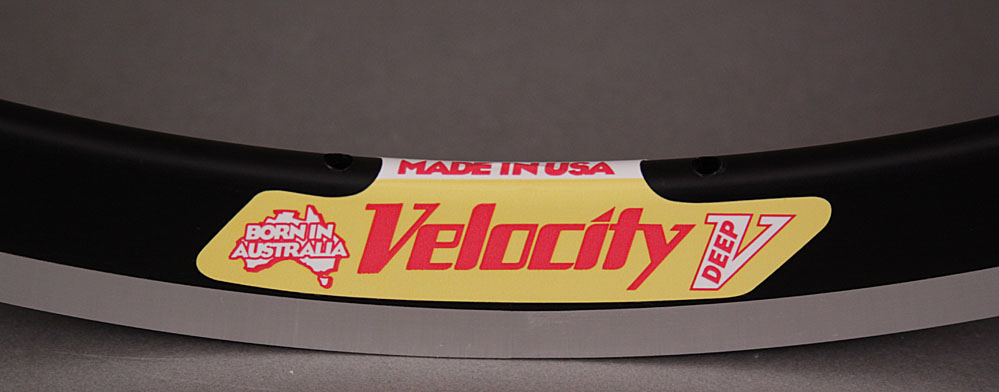 Velocity Deep V Black 32 Hole Rim