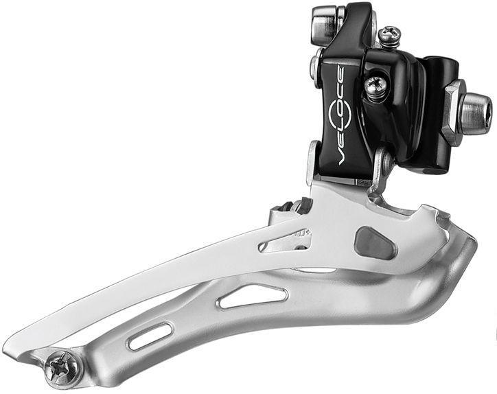 CAMPAGNOLO VELOCE 10 SPEED BLACK FRONT DERAILLEUR BRAZE ON