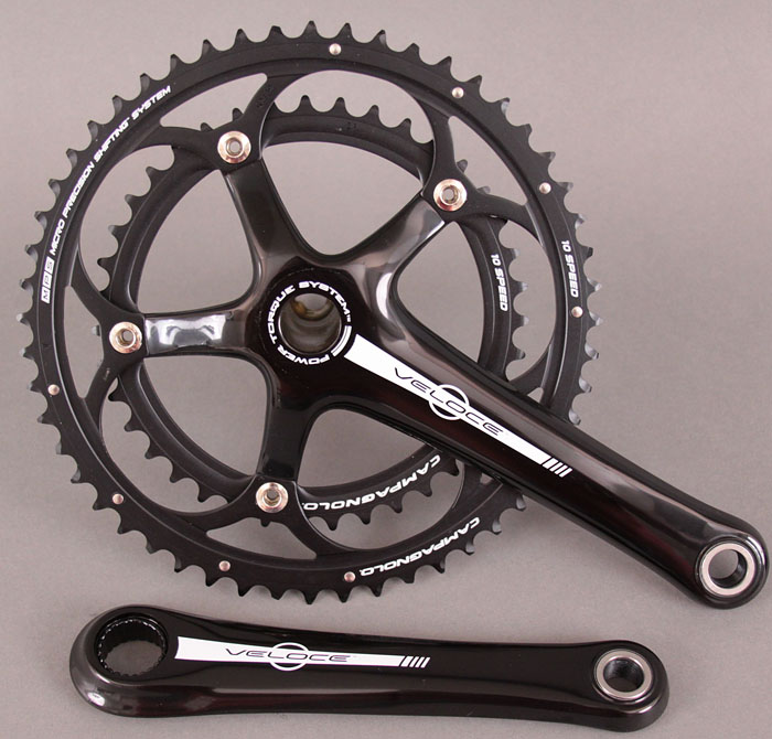 Campagnolo Veloce Black 10 Speed Power Torque Crankset 175 39/53