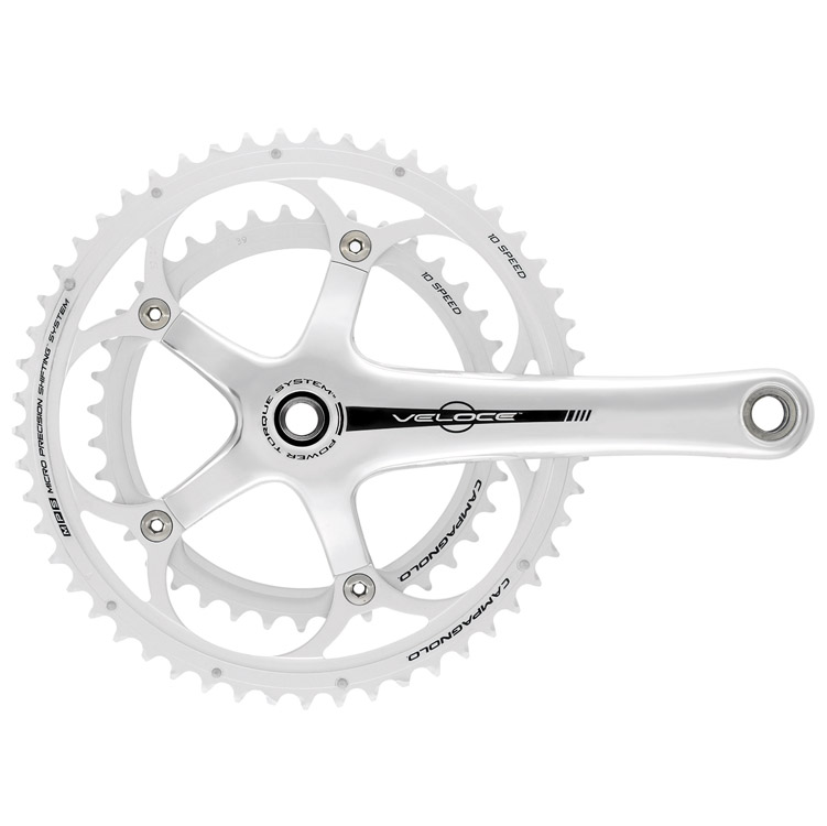 Campagnolo Veloce Silver 10 Speed Power Torq Crankset 170 39/53