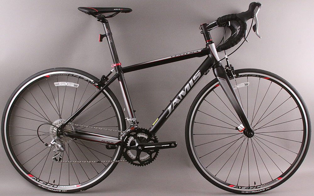 2015 Jamis Ventura Race Road Bike Shimano 48cm Anodized Blk