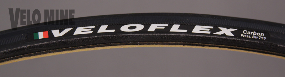 Veloflex Carbon 23c Black Racing Tubular Tire 7 to 10 Bar