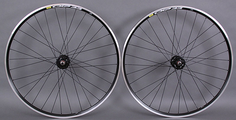 Mavic CXP22 Black Fixed Gear Track Bike Singlespeed Wheelset