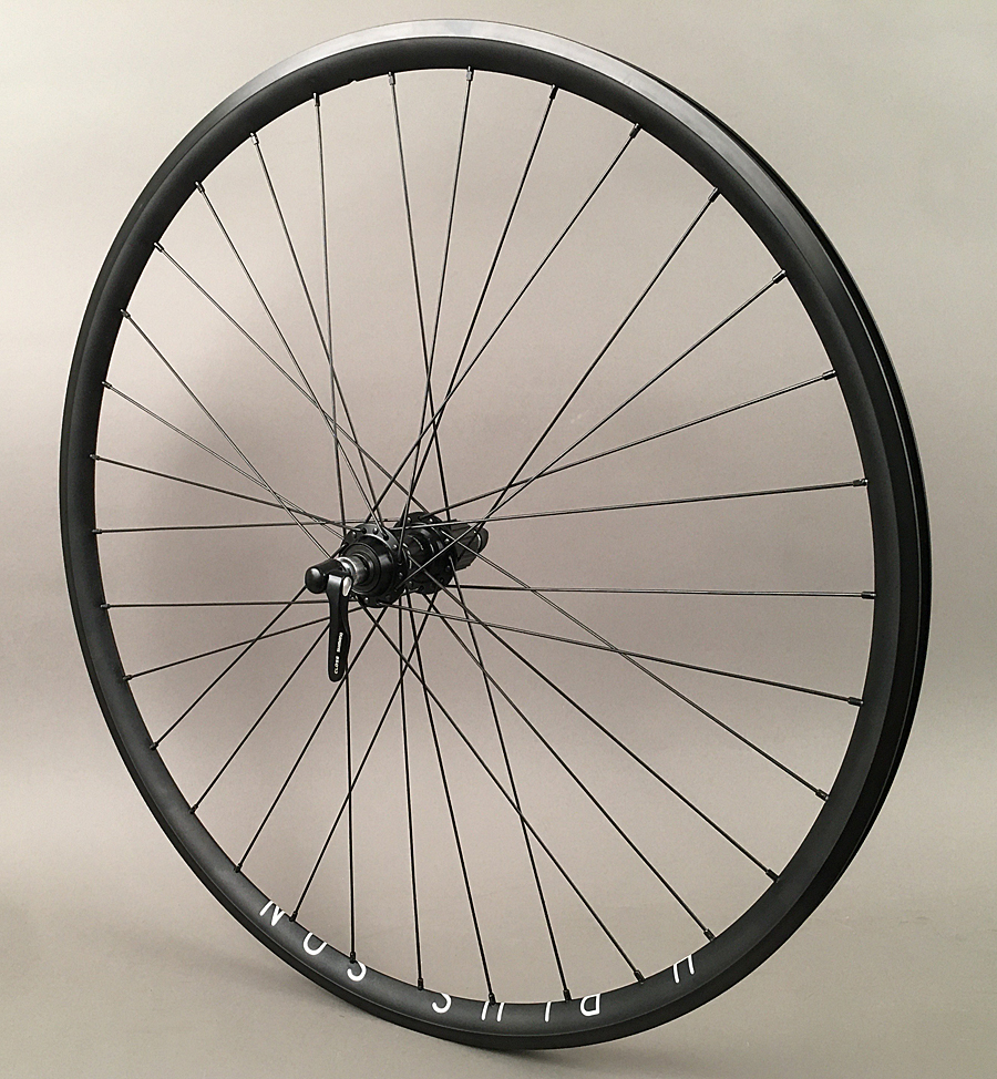 H Plus Son Archetype Black Road Bike Rear Wheel Shimano 105 Hub