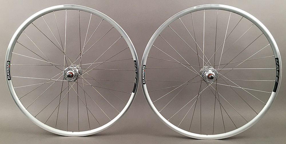 Alex Rims DA22 Silver Fixed Gear Track Bike Wheelset 32h Formula
