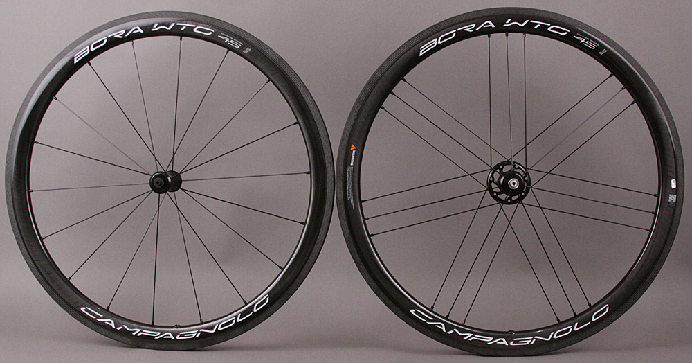 Campagnolo Bora WTO 45 Carbon Clincher Wheels USB Bright Label