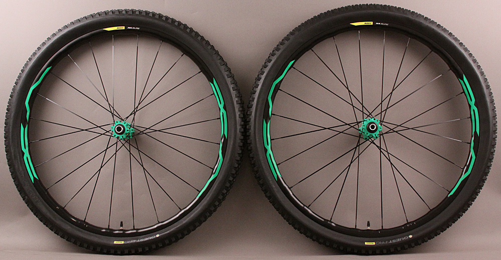 Mavic XA Elite 27.5 650b Mountain Bike Wheelset and Tires Green