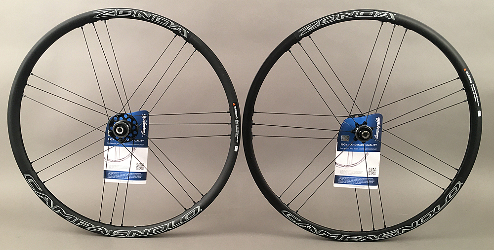 Campagnolo Zonda Clincher Black Disc Brake Wheels 10-12 Speed
